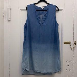 Ombre Denim Dress/CoverUp